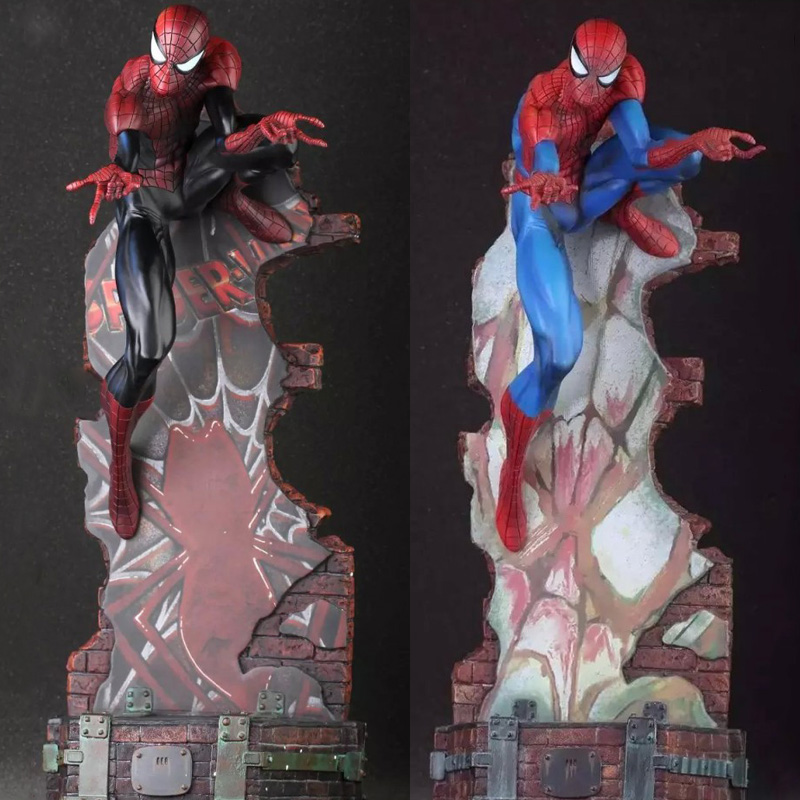 Marvel Crazy Toys Spiderman The Amazing Spider-man PVC Action Figure Collectible Model Toy 2 Styles 18 KT1932 marvel amazing ultimate spiderman captain america iron man pvc action figure collectible model toy for kids children s toys