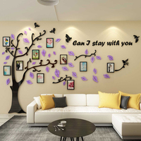 Creative big tree, acrylic 3D wall sticker, living room sofa, background, wall decoration, photo frame, wall sticker