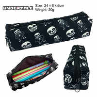 Undertale Sans Skull Canvas Pencil Bag Printing Pouch Zipper Case Student Gift Wallet