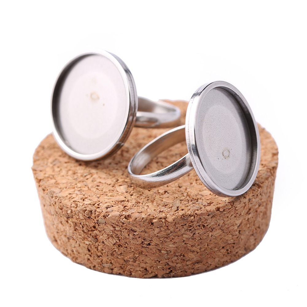 onwear 10pcs stainless steel adjustable ring base 20mm dia cabochon settings diy bezel blanks for jewelry rings making onwear 10pcs adjustable wood cabochon ring base 12mm diy blank bezel settings for jewelry making