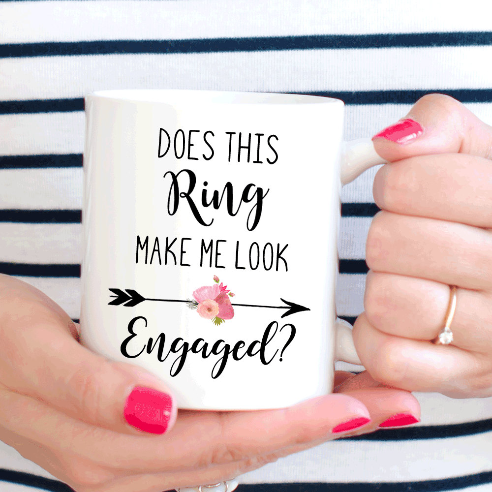 Does This Ring Make Me Look Engaged mugs beer cup coffee mug ceramic tea cups home