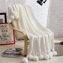 Sofa Knitted Blanket Large White Throw Blanket Warm Soft Fluffy Blankets For Bed Sherpa Adult Knit Travel Blanket Manta Sofa Koc