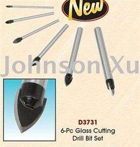 Juego de 6 piezas 100% garantizado Kit de brocas para cortar vidrio y - Piezas para maquinas de carpinteria - foto 4