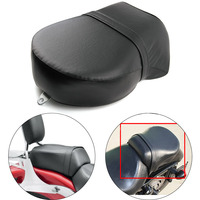 For Harley Davidson Sportster XL 883 1200 883XL XL1200 Motorcycle Rear Passenger Seat Cushion Pillion Leather Pad Cover