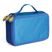 3 Layers Portable Canvas School Pencil Cases High-capacity Pencil Bags School Supplies