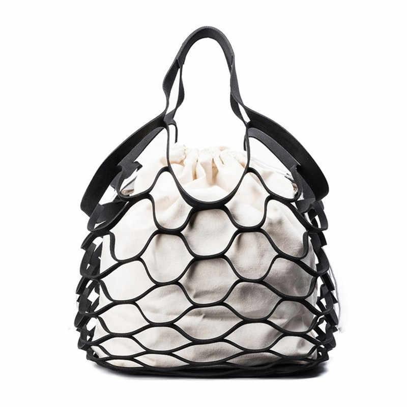LHLYSGS брендовые пляжные сумки для женщин 2018 роскошные женские дизайн Чистая hollowed