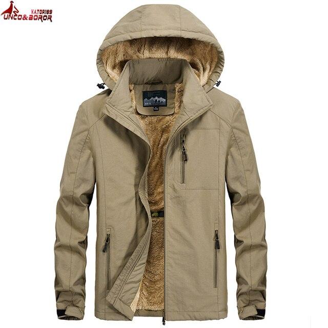 Brand winter coat men warm wool liner casual men`s windbreaker bomber jacket Detachable Hooded parka coat men clothes 2