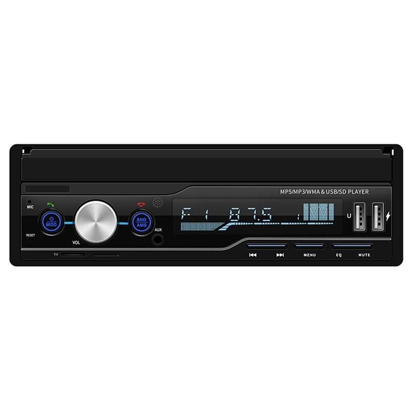 T100 7 pouces voiture stéréo Mp5 lecteur enregistreur de conduite Rds Fm Am Radio Bluetooth Usb Aux unité de tête meilleur Microphone Bluetooth Han