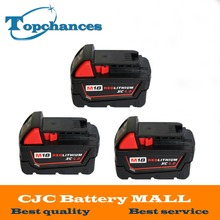 3PCS High quality New18V 4.0Li-Ion 4000mAh Replacement Power Tool Battery for Milwaukee M18 XC 48-11-1815 M18B2 M18B4 M18BX Li18