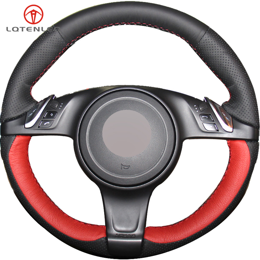 Aliexpress.com : Buy LQTENLEO Red Black Leather Steering