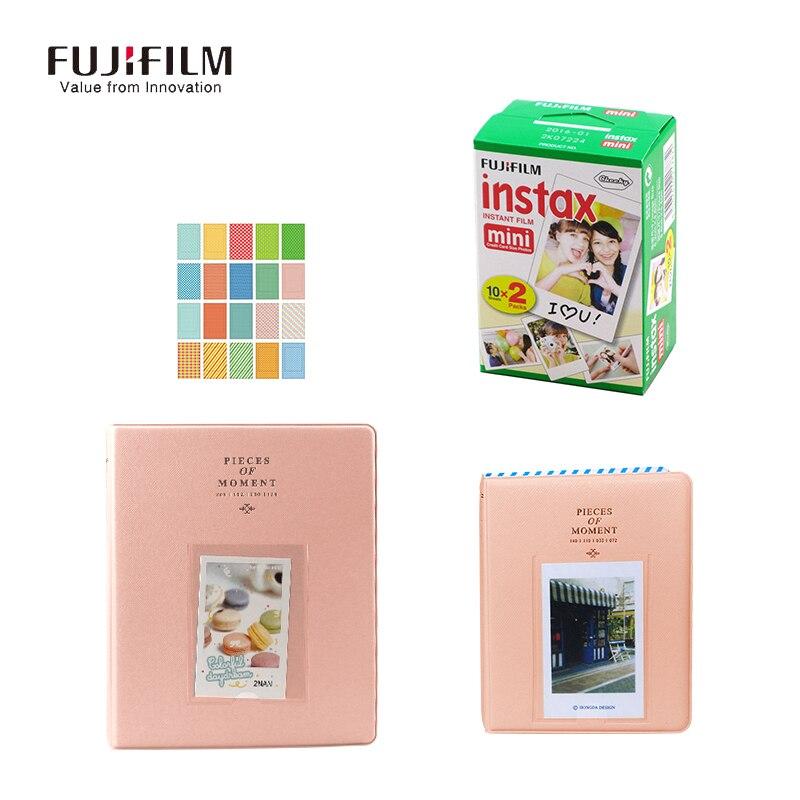 Galleria fotografica Fujifilm Instax Mini 9 7s 8 90 50S Film 20 sheets 128 Pockets 64 Pockets Photo Autograph Picture Case Gifts Fuji Camera Paper