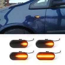 2Pcs LED Dynamic Side Marker Light Turn Signal For Bora Golf Passat 3BG Polo Skoda Ford Car-styling Auto Products