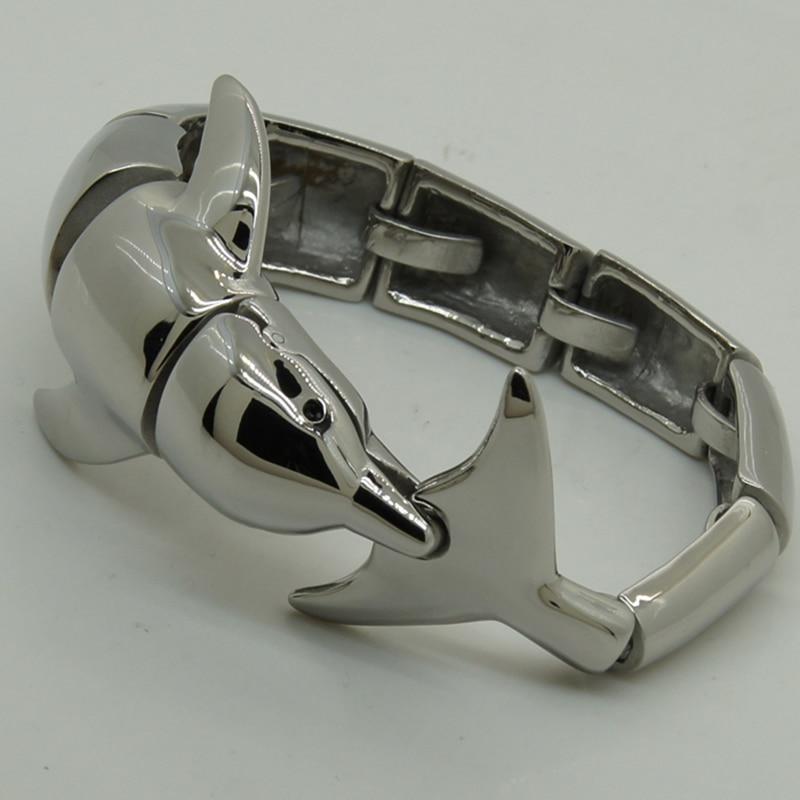 Bracelet de vélo homme/garçon en acier inoxydable 316L extrêmement brillant