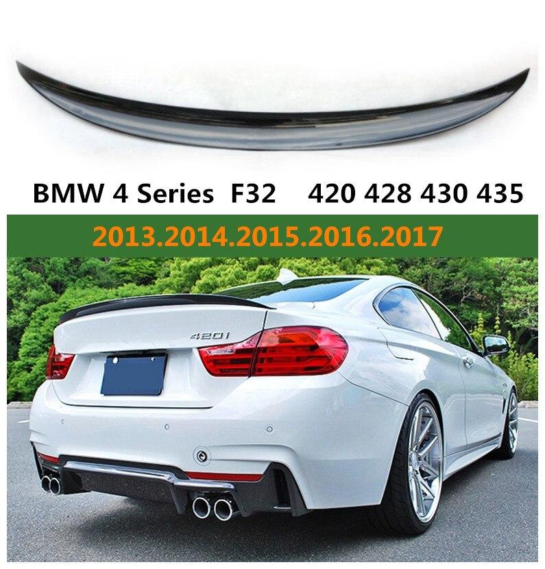 P Style Spoiler En Fiber De Carbone Pour BMW F32 Série 4 Coupé 420 428 430 435 2014-2018 Aile arrière Spoilers Accessoires De Haute Qualité