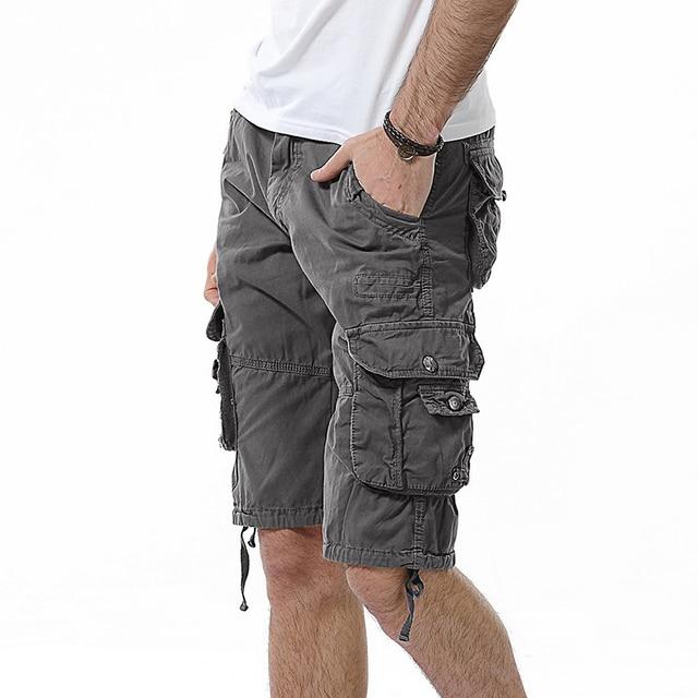 Fahison Military Cargo Shorts Mens Camouflage Tactical Shorts Men Cotton Work Casual Male Short Pants Plus Size