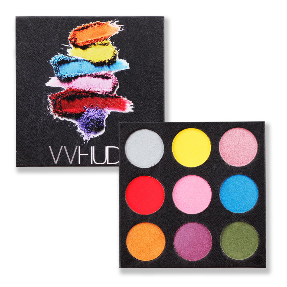 VVHUDA Maquillage Ombre À Paupières Palettes 9 Super Pigmentée Coloré Mat Ombre Kit Professionl Smokey Fard À Paupières Cosmétiques Ensemble PU Cas