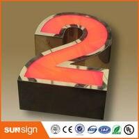 Пользовательские передней двери конструкции сетчатый 3d led письмо знак