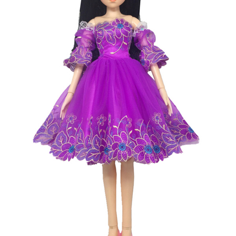 not Include Doll Gauze Bubble Sleeve Princess Fashion Dress Accessories Clothing For 60cm For For S Doll Toy Dolls Accessories