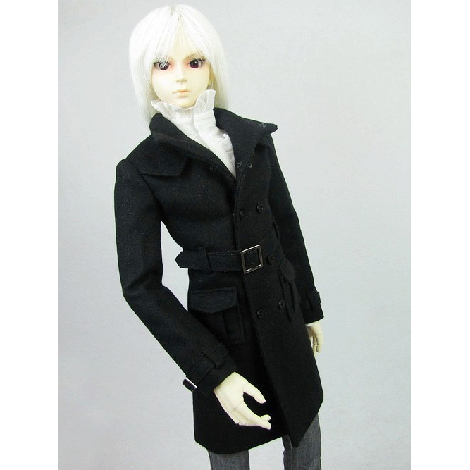 [wamami] 500# Black Tweed Coat/Outfit SD DZ DOD 1/3 BJD Doll Dollfie [wamami] 774 england style black suit outfit clothes for 1 3 sd dz dod bjd