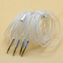 NAOI YK2 1.25M Earphone Cable Repair Diy Plated Silver Headphone Upgrade Replace Wires Accessories Earbuds Line