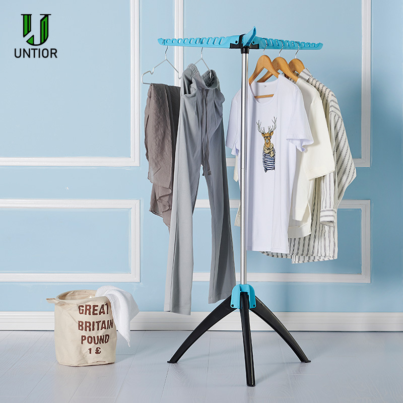 UNTIOR Stainless Drying Rack Hanger Portable Foldable Floor Stand Clothing Hanging Rack Laundry Magic Drying Rack