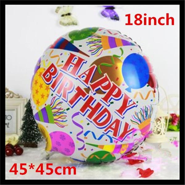 1pcs 18inch Foil Round Balloons Happy Birthday Balloons Children Gift Birthday/P