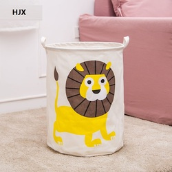 Folding Laundry Basket Cartoon Storage Barrel Standing Toy Clothing Storage Bucket Laundry Organizer Holder Pouch for Kids gift