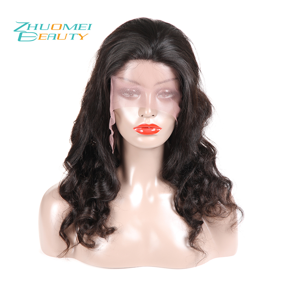 Zhuomei BEAUTY 130% Density Lace Front Wigs With Baby Hair Pre Plucked Remy Hair Indian Loose Wave Lace Front Human Hair Wigs