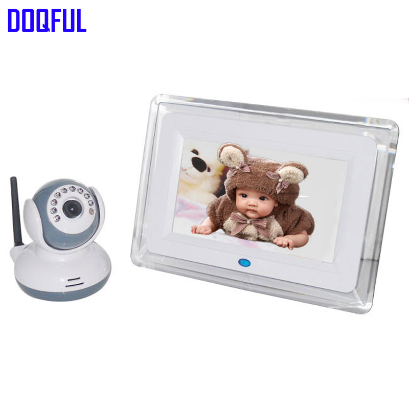 Free Shipping 7 Wireless Digital 2.4GHZ Baby Monitor Video Babysitter 2 Way Talk Baby Security System Kid Nanny Babies Nurse help your baby talk