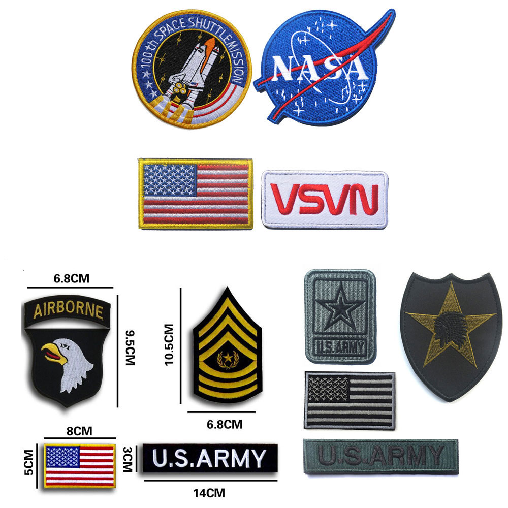 8790361e20c CREATRILL Military stripes Morale patch Badges tactical