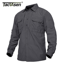 TACVASEN chemise dété pour hommes, chemise légère à séchage rapide, militaire, armée, chemise pour le travail à manches longues pour lextérieur