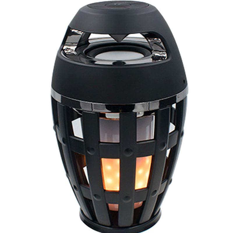 Mode bluetooth stéréo rétro flamme lumière surround haut-parleur stéréo portable basse éclairage téléphone audio cadeau charge subwoofer