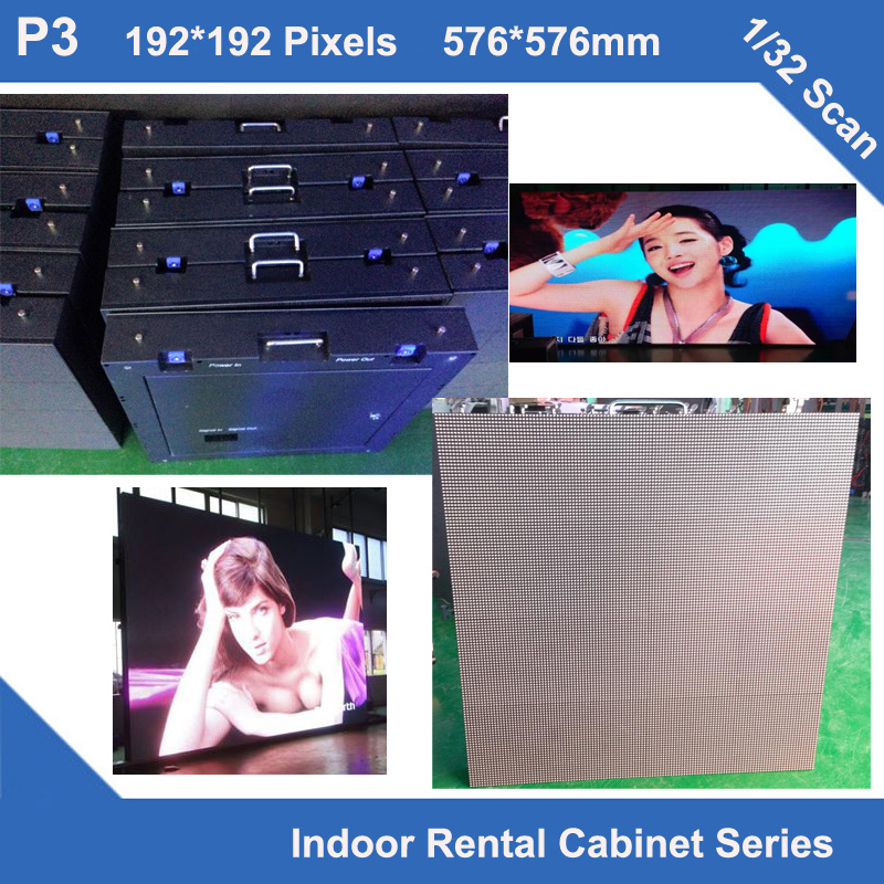 TEEHO NEW P3 indoor rental fixed use Cabinet full color led display 576mm*576mm 192*192dots 1/32 scan iron led module displayTEEHO NEW P3 indoor rental fixed use Cabinet full color led display 576mm*576mm 192*192dots 1/32 scan iron led module display