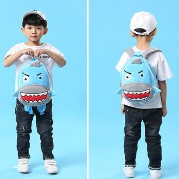 Girls Boys Cute Plush School Backpacks Unicorn Kindergarten 3D Cartoon School Bags Children Animal Toys Bag Infantes Mochila 2-4 1
