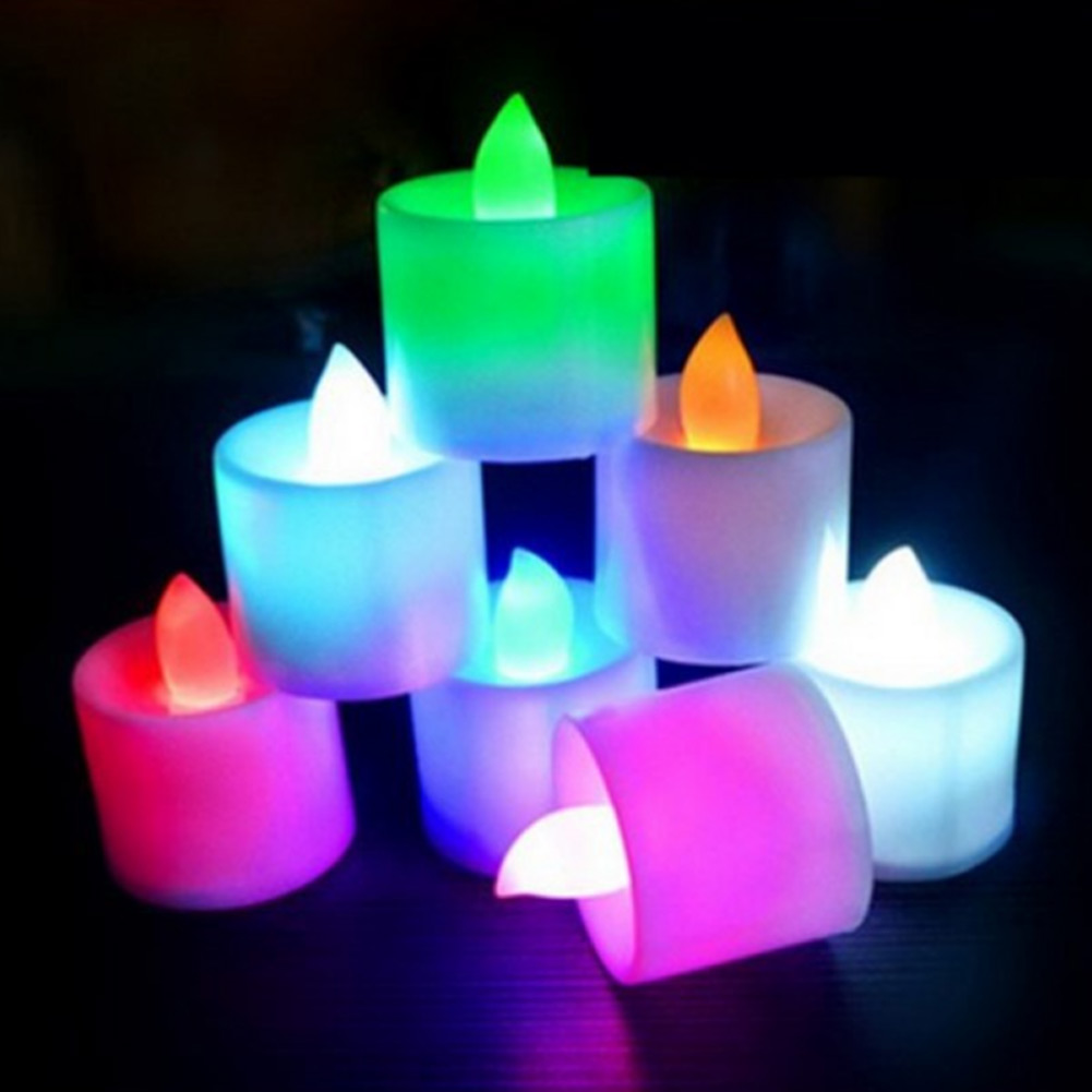 24pcs Flameless LED Tea Light Candles Bright Flickering Battery Powered Fake Candles LB88
