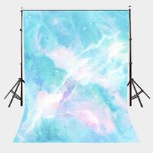 150x220cm Dreamy Milky Way Backdrop Blue Marble Texture Pattern Studio Photography Girl Children Party Props