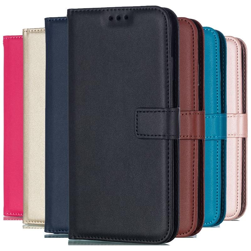 Solid Color Leather Wallet Case For Samsung Galaxy J4 J6 Plus J8 J2 Pro 2018 J1