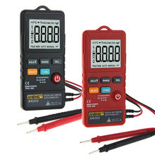 AN302 Multi-function Button Type Multimeter+Portable Strap+Measurement Data Line Logistics Multimeter Red/Black Measuring Tool(China)