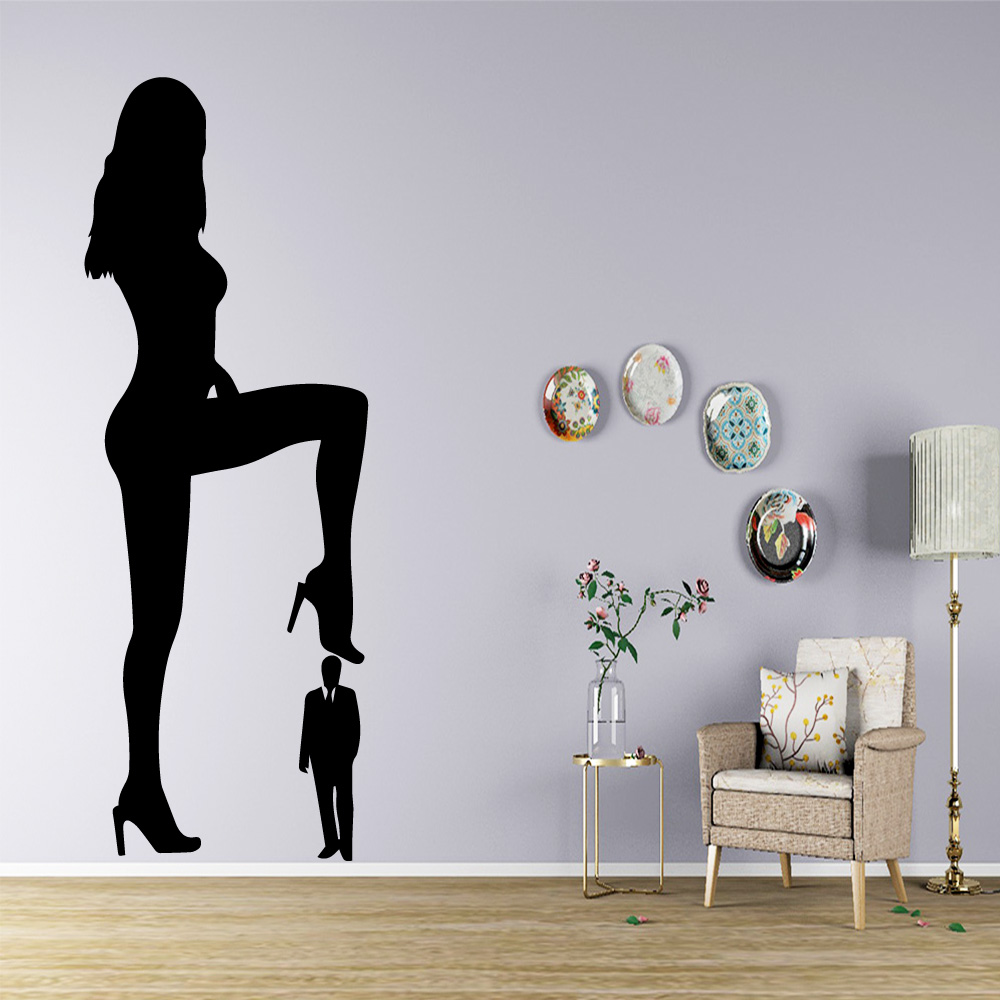 Exquisite <font><b>sexy</b></font> <font><b>woman</b></font> <font><b>Wall</b></font> <font><b>Art</b></font> Decal Decoration Fashion <font><b>Sticker</b></font> For Baby Kids Rooms Decor <font><b>Wall</b></font> Decal Home Decor image