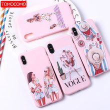 Fashion Queen Classy Parijs Meisje Zomer Reizen Mom Baby Soft Silicone Candy Case Coque Voor iPhone 11 6 8 8 plus X XS Max 7 7Plus(China)