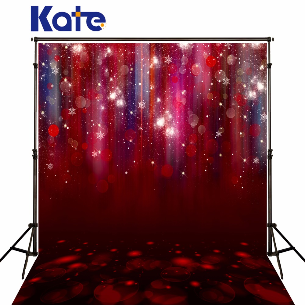 KATE Red Light Spot Wall Backdrops Christmas Backdrop Romantic Backgrounds Wedding Photo Background Party Backdrop for Studio
