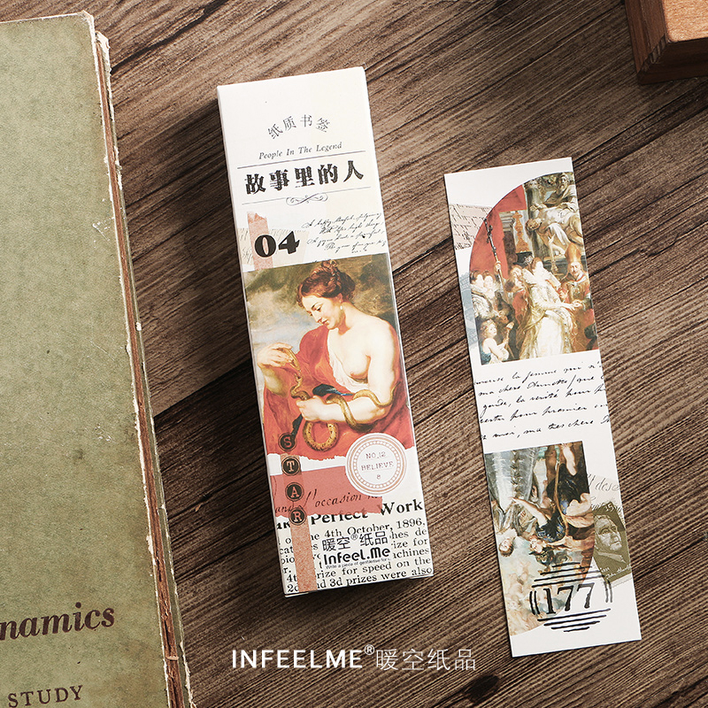 Infeel.me story people 30 pcs/pack paper Card Bookmark