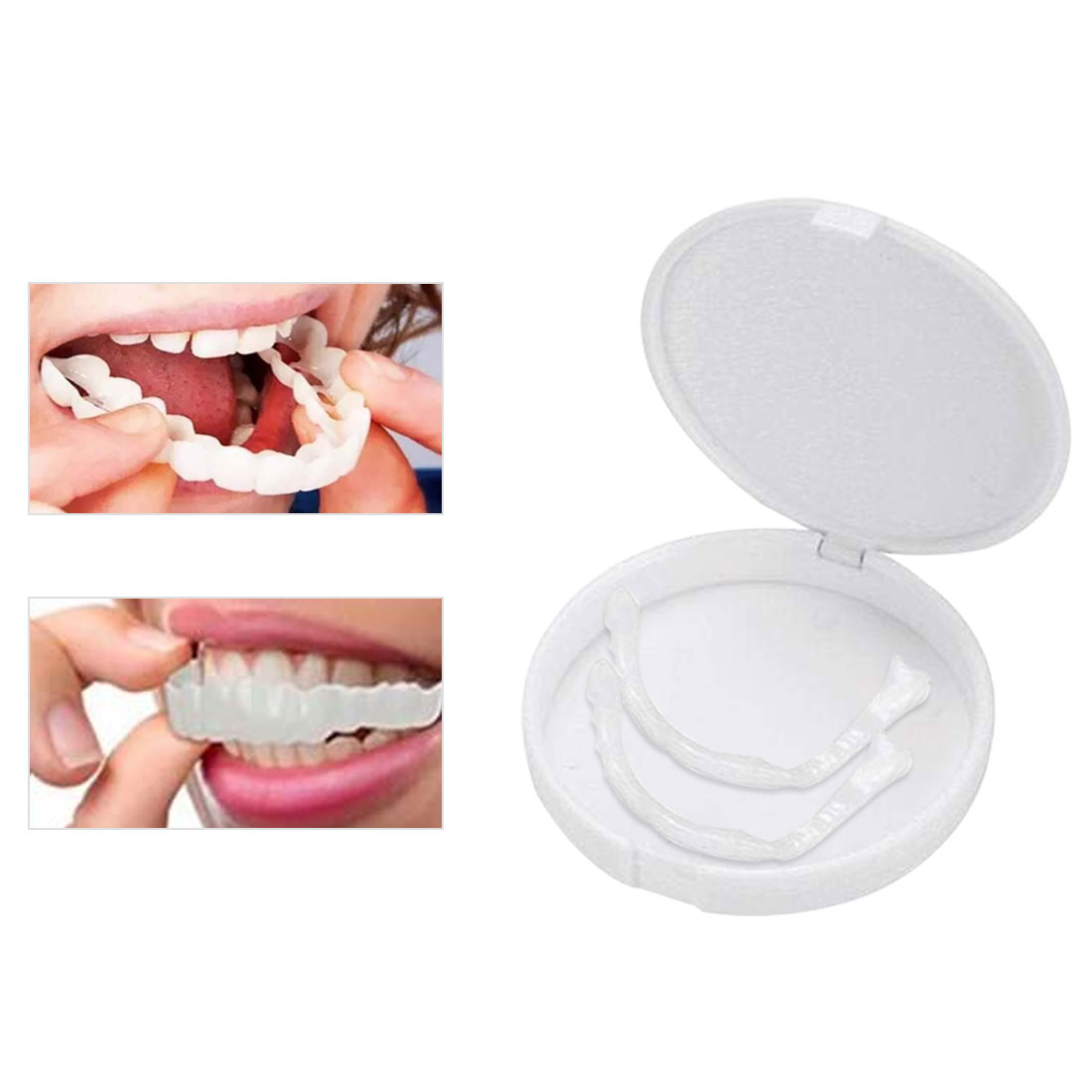 Whitening Snap Perfect Smile Denture Teeth Comfort Fit False Teeth Reusable Teeth Cover Adjustable Flex