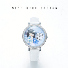 2018 New Arrival Snow Girl Japan Handgjorda Craft Clay Watch Present Lady Klockor Barn Kvinnor