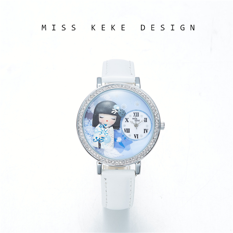 2018 New Arrival Snow Girl Japan Handmade Craft Clay Watch Gift Lady Watches Children Women  638