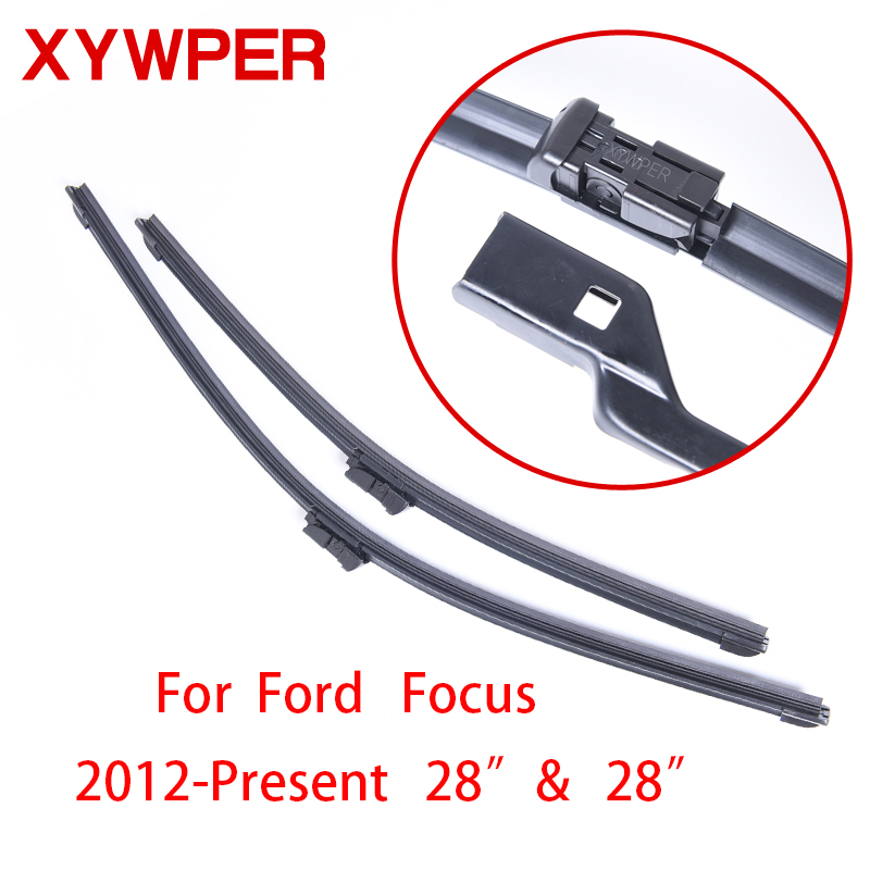 xywper wiper blades for ford focus 2012 2013 2014 2015 2016 28 28 car accessories soft rubber. Black Bedroom Furniture Sets. Home Design Ideas