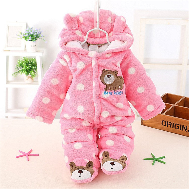 9d9795a8a BibiCola New Baby Winter Romper Cotton Padded Thick Newborn Baby ...