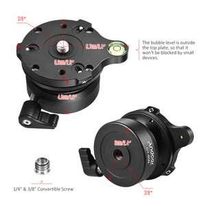 Image 4 - Andoer Tripod Head DY 60N Tripod Leveling Base Leveler Adjusting Plate for Canon Nikon Sony DSLR Camera