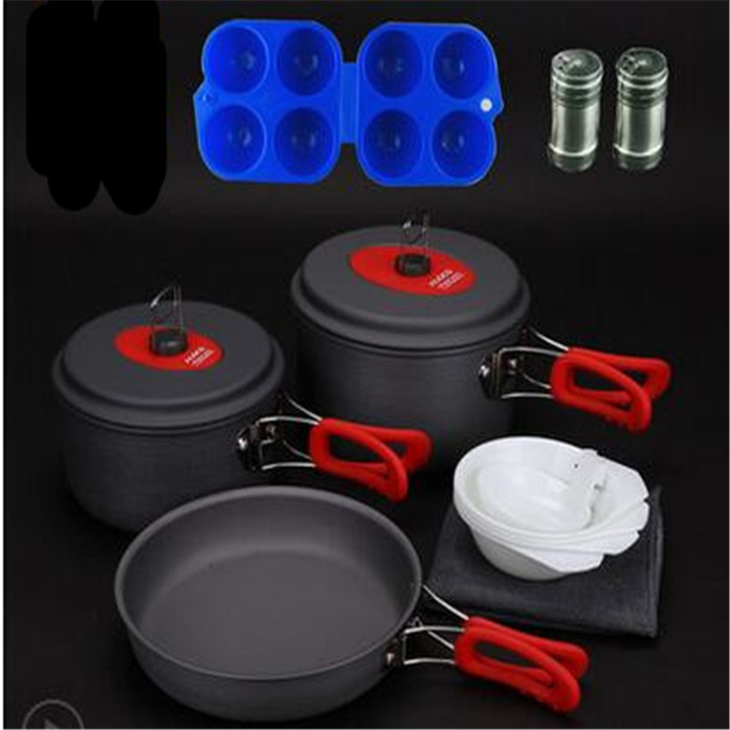 POINT BREAK Alocs outdoor 3-4 sets of pan Portable outdoor camping cooker The CW - C30 POTS set combination чайник походный alocs love road off cw k04 alocs cw k04 pro