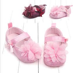Для новорожденных Обувь для девочек малышей лук тюль Цветок-тапки Модная одежда для детей, Детская мода обувь для девочек Обувь для малышей